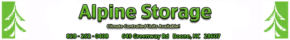 Welcome to Alpine Mini Storage, Boone NC - convenient, secure, affordable self storage and  mini storage